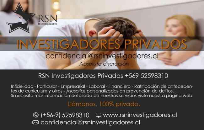 investigadores privados a su servicio  RSN INVESTIGADORES