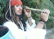 Doble de marilyn monroe,elvis presley,jack sparrow,grees brillantina,joven manos de tijera