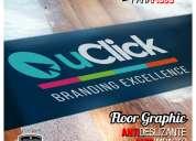 Gráfica publicitaria y logotipos adhesivos de alto trafico para pisos / grafica24