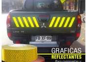 Graficas reflectantes y fluorescentes para vehiculos / grafica24