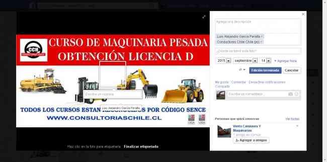 curso y certificación l ,excavadora,retroexcavadora