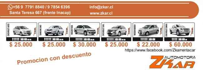 Rent a Car Zkar, Puerto Montt 22-04