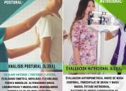 EvaluaciÓn postural + evaluaciÓn nutricional $15.000
