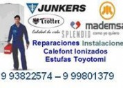 Reparo calefont  993822574 - 999801379, todas las marcas y modelos.