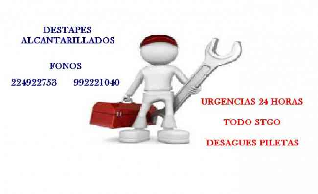 DESTAPES DE PILETAS DESAGUES VITACURA LAS CONDES 992221040
