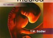 Vendo embriologia medica langman 13ed 8.000