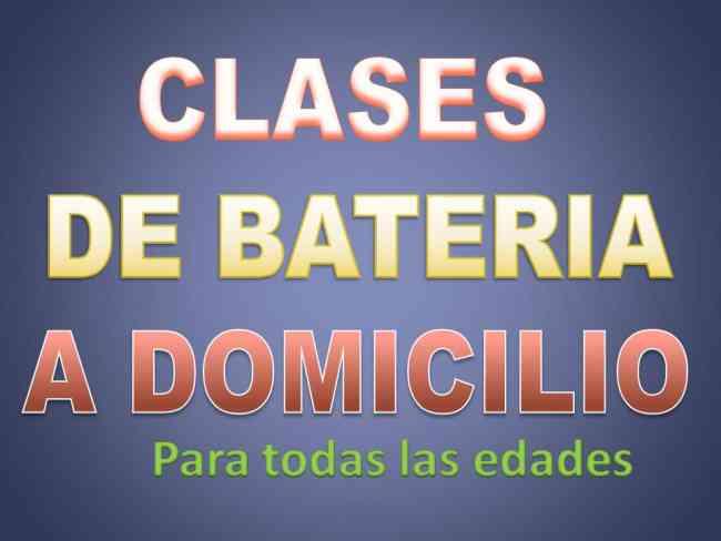 CLASES DE BATERIA A DOMICILIO