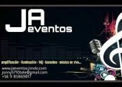 J. a. eventos. vdj, cantante y mucho mas...