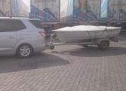 Excelente bote de fibra 4.20 mts, motor tohatsu de 18 hp, con carro
