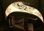 Excelente casco marushin 777nx tiger blanco