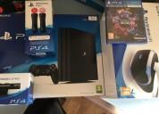 Venta sony playstation vr + ps4 pro console con 7 juegos $150 dolares