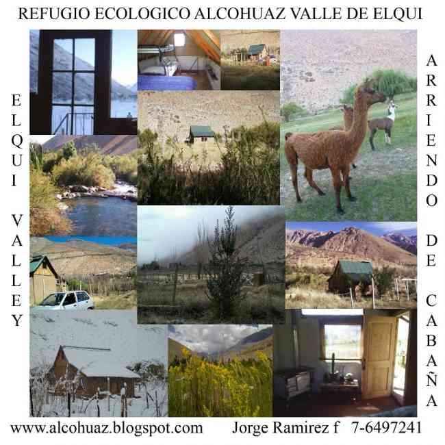 Parcela a la venta en Alcohuaz, 8.000 m 2 con cabaña , lugar de Turismo
