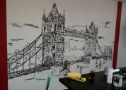 Instalacion de papeles murales