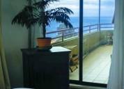 Amplio departamento 130 m2 vista al mar,  recreo,viÑa del mar // vd374