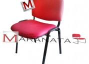 Silla iso tapizada, para iglesias, conferencias, salas de espera, silla de visita