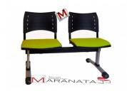 Banqueta spring asiento tapizado, para salas de espera