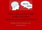 clases particulares de inglés ( maipú- villa los héroes)