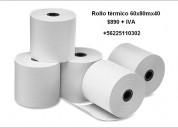 Vendo rollo tÉrmico 60mmx80mx40 +56942254611