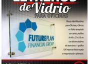 Letreros de acrílico y vidrio para oficinas y clínicas / grafica24