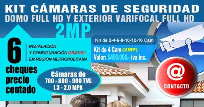 Kit CCTV, Cámaras de Seguridad Varifocal Full HD 2 MP, INSTALACIÓN GRATIS!!