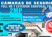 Kit cctv, cámaras de seguridad varifocal full hd 2 mp, instalaciÓn gratis!!