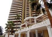 Arriendo condominio 3d amoblado frente a playa cavancha piso 12 600.000 mas gasto comun