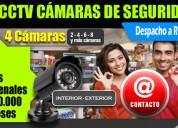 Kit cctv, cámaras de seguridad para su negocio 12 cuotas quincenales x 6 meses, precio contado