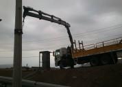 Arriendo camion pluma certificado en rancagua