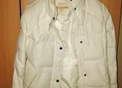 abrigo de invierno blanco marca esprit, con bufanda esprit