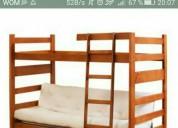 Se vende camarote dos camas de una plaza mas futon blanco