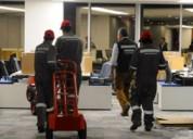 Mudanzas domesticas y oficinas con serv. de armado y desarme de mobiliario, aseo industrial