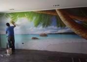 Instalacion de papel mural y fotomural