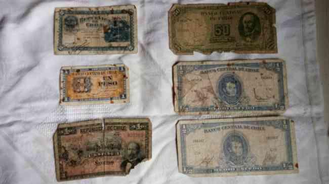 Billetes del Banco Central de Chile  Años 1945