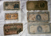 Billetes del banco central de chile  años 1945