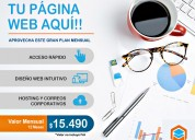 Pagina web plan mensual conveniente