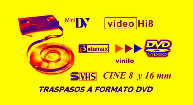traspasos  videos  vhs  y multiformatos a  digital  full  imàgen