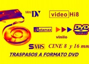 Traspasos  videos  vhs  y multiformatos a  digital  full  imàgen