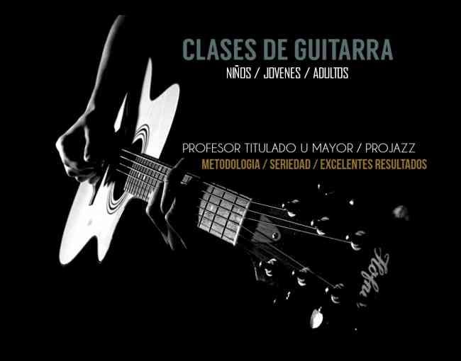 Curso de guitarra todos los niveles y edades en Santiago