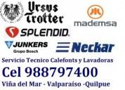 Neckar splendid calefont y lavadoras cel 988797400 viña del mar curauma