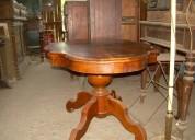 Meza inglesa de caoba fines de 1800