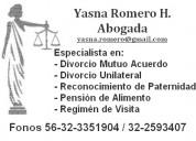 Oferta! divorcio mutuo acuerdo $150.000 todo incluido