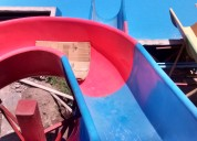 Fabricación de toboganes en fibra de vidrio para parques acuatico