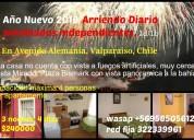 Año nuevo 2018 en valparaiso, arriendo diario amoblado full 1d1b wifi cable, wasap 958505612
