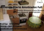 arriendo diario casa en valparaiso, amoblada, wi-fi. fono 97508350