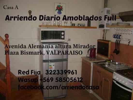 arriendo diario amoblado full 1d1b wifi cable, wasap 958505612