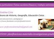 clases particulares de historia, inglés, trabajos y ensayos de u