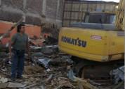 Demoliciones en santiago +56973677079 limpieza de terreno retiro escombros