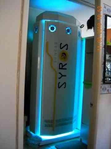 Solarium Vertical 36 lamp 160watt , Enco Español, Trabajando 100%