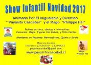 Show animacion infantil navidad 2017 payaso, pascuero, mago