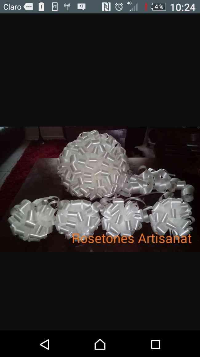 Rosetones decorativos para autos de novios y automotoras